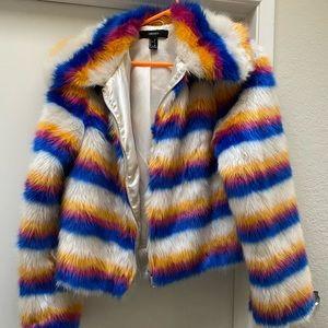NWOT Faux Fur zip up